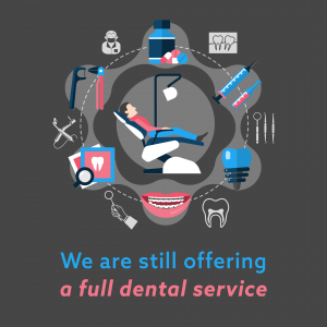 Dental practice remaining open